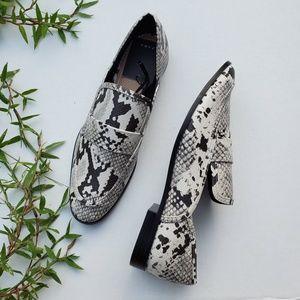 NWT Zara Animal Print Snake Loafers